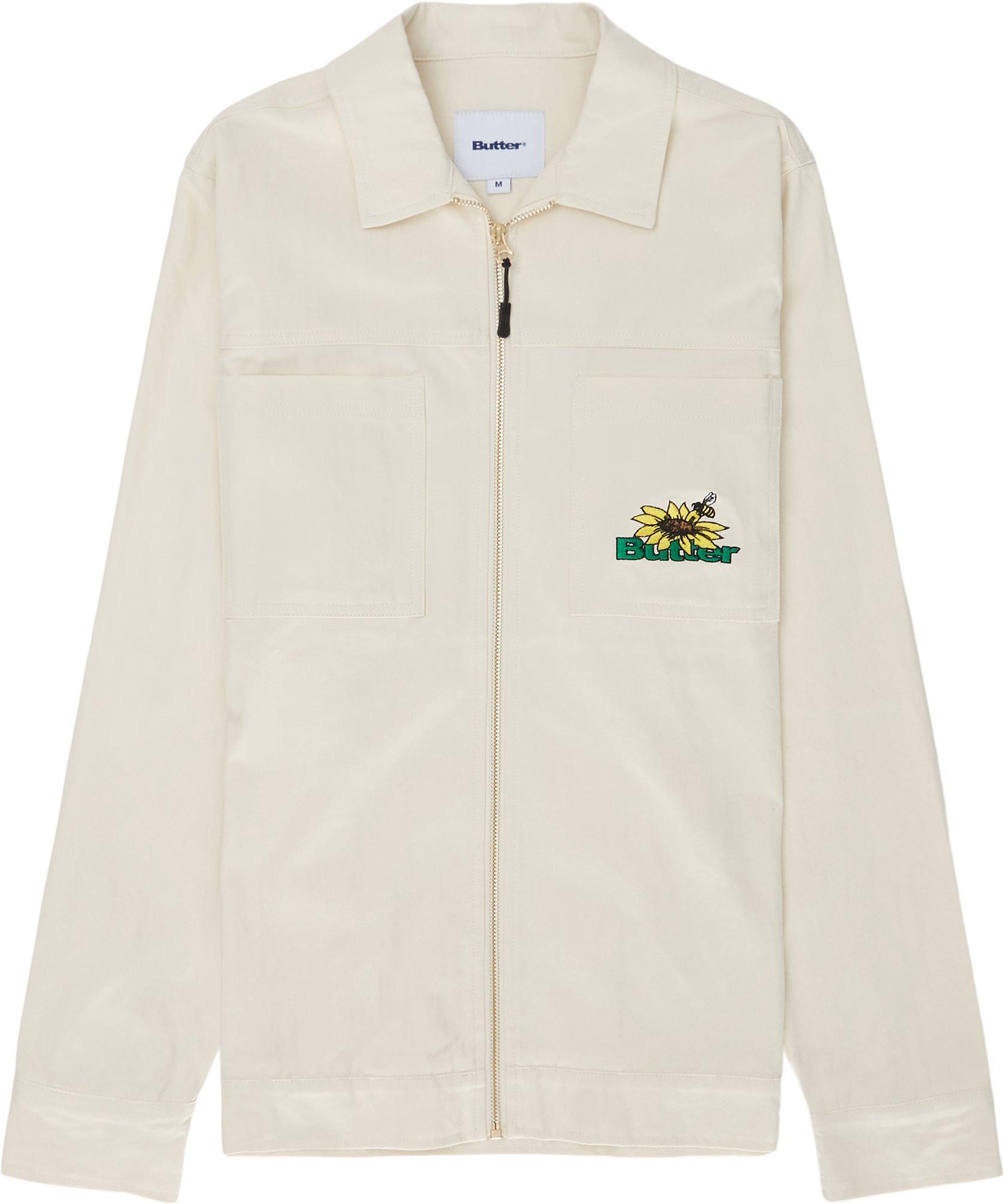 Herringbone Workshirt Skjorte - Skjortor - Regular fit - Vit